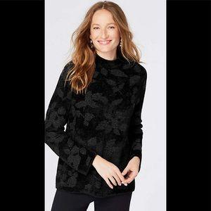 JJILL Black Chenille Sweater